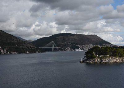 Einfahrt in den Hafen von Dubrovnik