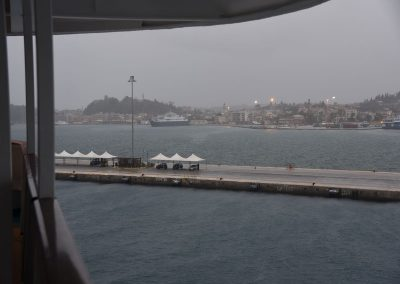 Kerkyra, Korfu, Griechenland - auch hier schüttet es