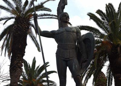 Die Statue von Achilles