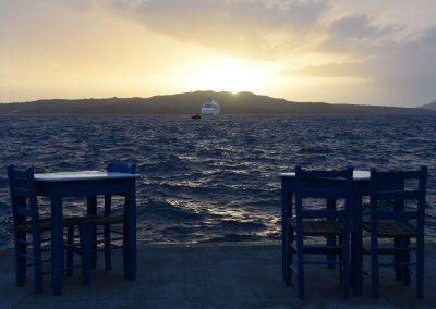 Sonnenuntergang vor Fira