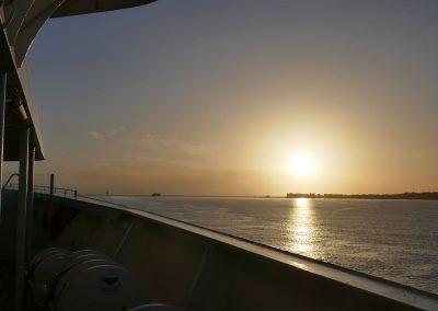 Sonnenaufgang und Ankunft in Rhodos