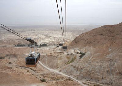 Mit der Luftseilbahn geht es rauf zur historischen Festungsstadt Masada