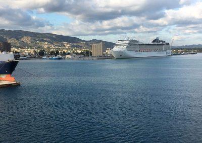 Ankunft in Souda Bay, Kreta
