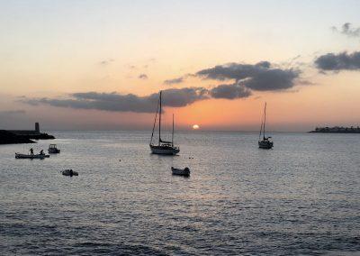 Sonnenuntergang in Playa Blanca
